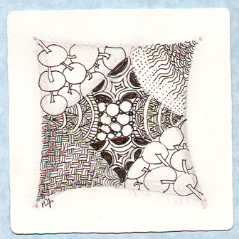 Donna's First Original Zentangle