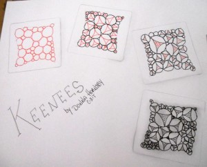 Keenees: an original tangle by Donna Hornsby, CZT