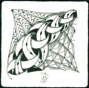DIVA Weekly Zentangle Challenge 45